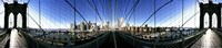 """Mirror View of the Brooklyn Bridge by Panoramic Images - 36"""" x 12"""""""
