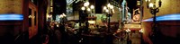 """360 degree view of a city lit up at night, Broadway, Manhattan, New York City, New York State, USA by Panoramic Images - 36"""" x 12"""""""