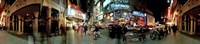 """360 degree view of a city at dusk, Broadway, Manhattan, New York City, New York State, USA by Panoramic Images - 36"""" x 12"""""""