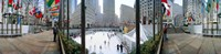 """360 degree view of a city, Rockefeller Center, Manhattan, New York City, New York State, USA by Panoramic Images - 36"""" x 12"""""""
