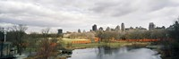 """Gates in a park, The Gates, Central Park, Manhattan, New York City, New York State, USA by Panoramic Images - 36"""" x 12"""""""