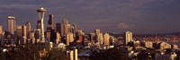 """View of Space Needle and surrounding buildings, Seattle, King County, Washington State, USA 2010 by Panoramic Images, 2010 - 36"""" x 12"""""""