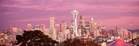 Night view of Seattle, King County, Washington State, USA 2010 Fine Art Print