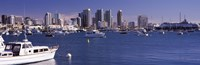 """Boats in the San Digeo Harbor by Panoramic Images - 36"""" x 12"""""""