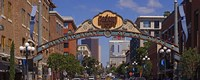 """Buildings in a city, Gaslamp Quarter, San Diego, California, USA by Panoramic Images - 36"""" x 12"""""""