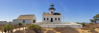 Lighthouse, Old Point Loma Lighthouse, Point Loma, Cabrillo National Monument, San Diego, California, USA Fine Art Print