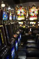 "Slot machines at an airport, McCarran International Airport, Las Vegas, Nevada, USA by Panoramic Images - 12"" x 36"""