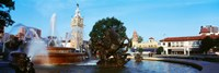 """Fountain at Country Club Plaza, Kansas City, Missouri by Panoramic Images - 36"""" x 12"""""""
