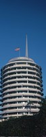 """Low angle view of an office building, Capitol Records Building, City of Los Angeles, California, USA by Panoramic Images - 12"""" x 36"""""""