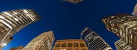 "Low angle view of high-rise buildings at dusk, San Francisco, California, USA by Panoramic Images - 36"" x 12"""