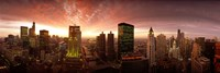 "Sunset cityscape Chicago IL USA by Panoramic Images - 36"" x 12"""