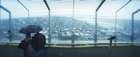 """Couple viewing a city from the Space Needle, Queen Anne Hill, Seattle, Washington State, USA by Panoramic Images - 36"""" x 12"""""""