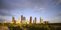 """Houston Skyscrapers, Texas by Panoramic Images - 36"""" x 12"""", FulcrumGallery.com brand"""