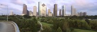 "Skyscrapers against cloudy sky, Houston, Texas by Panoramic Images - 36"" x 12"", FulcrumGallery.com brand"