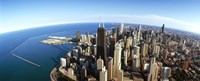 """Chicago skyscrapers, Cook County, Illinois, USA 2010 by Panoramic Images, 2010 - 36"""" x 12"""""""