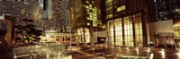 """City lit up at night, Citycenter, The Strip, Las Vegas, Nevada, USA by Panoramic Images - 36"""" x 12"""""""