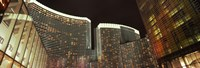 "Skyscrapers lit up at night, Citycenter, The Strip, Las Vegas, Nevada, USA by Panoramic Images - 36"" x 12"", FulcrumGallery.com brand"