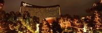 "Hotel lit up at night, Wynn Las Vegas, The Strip, Las Vegas, Nevada, USA by Panoramic Images - 36"" x 12"" - $34.99"