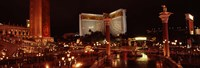 """Hotel lit up at night, The Mirage, The Strip, Las Vegas, Nevada, USA by Panoramic Images - 36"""" x 12"""" - $34.99"""