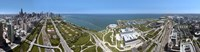 """180 degree view of a city, Lake Michigan, Chicago, Cook County, Illinois, USA 2009 by Panoramic Images, 2009 - 36"""" x 12"""""""
