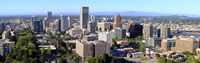 """High angle view of a cityscape, Portland, Multnomah County, Oregon by Panoramic Images - 36"""" x 12"""", FulcrumGallery.com brand"""