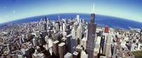 "Sears Tower, Aerial View, Lake Michigan, Chicago, Illinois, USA by Panoramic Images - 36"" x 15"""