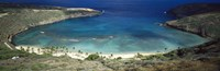 "High angle view of a coast, Hanauma Bay, Oahu, Honolulu County, Hawaii, USA by Panoramic Images - 36"" x 12"""