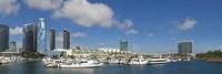 Buildings in a city, San Diego Convention Center, San Diego, Marina District, San Diego County, California, USA Fine Art Print