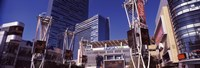 "Skyscrapers in a city, Nokia Plaza, City of Los Angeles, California, USA by Panoramic Images - 36"" x 12"""