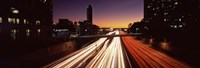 Traffic on the road, City of Los Angeles, California, USA Fine Art Print