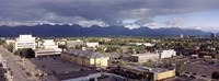 """Dark Skies Over Anchorage, Alaska by Panoramic Images - 36"""" x 12"""", FulcrumGallery.com brand"""
