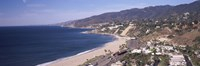 "High angle view of a beach, Highway 101, Malibu Beach, Malibu, Los Angeles County, California, USA by Panoramic Images - 36"" x 12"""