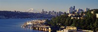 """Buildings at the waterfront, Lake Union, Seattle, Washington State, USA 2010 by Panoramic Images, 2010 - 36"""" x 12"""""""