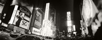 """Black and white view of Times Square, Manhattan by Panoramic Images - 36"""" x 12"""", FulcrumGallery.com brand"""