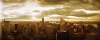 """Manhattan on a Cloudy Day by Panoramic Images - 36"""" x 12"""", FulcrumGallery.com brand"""