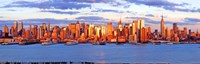 """Aerial view of Manhattan, New York City, New York State, USA by Panoramic Images - 36"""" x 12"""""""