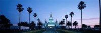 Oakland Temple at dusk, Oakland, California Fine Art Print