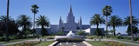 Formal garden in front of a temple, Oakland Temple, Oakland, Alameda County, California Fine Art Print