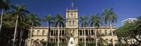 Facade of a government building, Aliiolani Hale, Honolulu, Oahu, Honolulu County, Hawaii, USA Fine Art Print