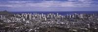 Aerial view of a city, Honolulu, Oahu, Honolulu County, Hawaii, USA 2010 Fine Art Print