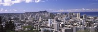 High angle view of a city, Honolulu, Oahu, Honolulu County, Hawaii, USA Fine Art Print