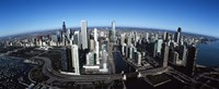 """Chicago Skyscrapers, Cook County, Illinois by Panoramic Images - 36"""" x 12"""""""