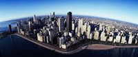 """Skyscrapers in a city, Lake Shore Drive, Hancock Building, Chicago, Cook County, Illinois, USA 2011 by Panoramic Images, 2011 - 36"""" x 15"""", FulcrumGallery.com brand"""