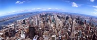 """Aerial View of Manhattan Skyscrapers, 2011 by Panoramic Images, 2011 - 36"""" x 12"""""""