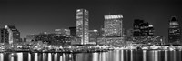 """City at the waterfront, Baltimore, Maryland, USA by Panoramic Images - 36"""" x 12"""""""