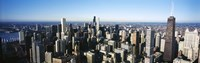 """Skyscrapers in a city, Hancock Building, Lake Michigan, Chicago, Cook County, Illinois, USA 2011 by Panoramic Images, 2011 - 36"""" x 12"""", FulcrumGallery.com brand"""