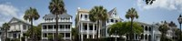 "Low angle view of houses along a street, Battery Street, Charleston, South Carolina by Panoramic Images - 36"" x 12"", FulcrumGallery.com brand"