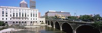 """Arch bridge across the Genesee River, Rochester, Monroe County, New York State, USA by Panoramic Images - 36"""" x 12"""" - $34.99"""