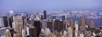 "High angle view of buildings in Manhattan, New York City by Panoramic Images - 36"" x 12"""