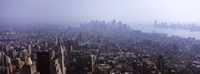 """Hazy view of Manhattan by Panoramic Images - 36"""" x 12"""" - $34.99"""